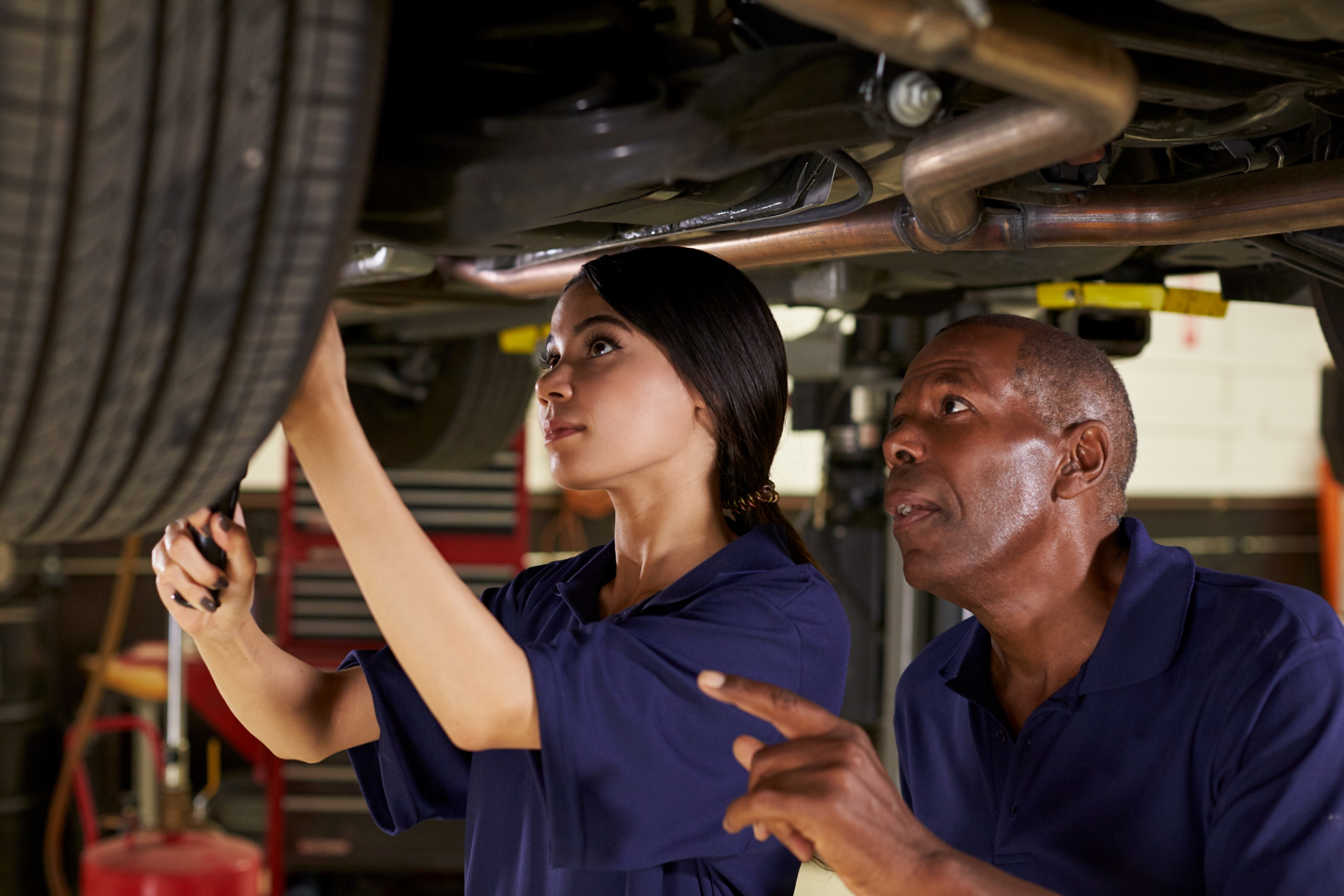 mechanic female male african american asian