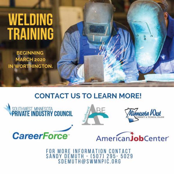 worthington welding training flyer
